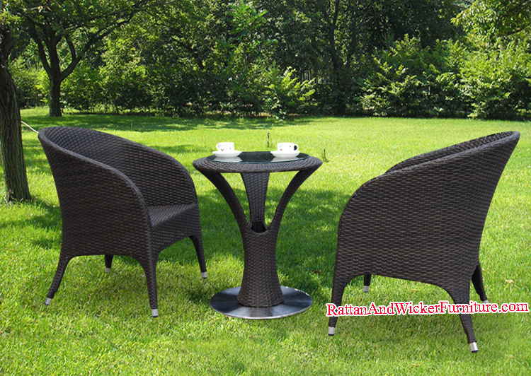 New Design 3-Piece Outdoor Furniture Rattan Wicker Patio Dining Table Set