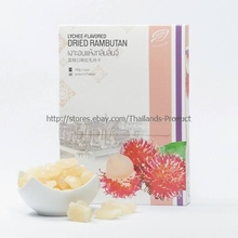 Organic Dried Rambutan Lychee Flavored Thai Fruit Low Fat Snack Box Pack 100 g