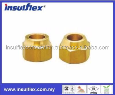 Short forged Flare Nuts, brass pipe fittings
