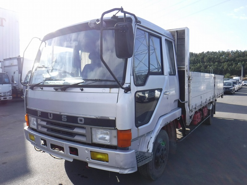 1990 Mitsubishi Fuso Fighter Flatbed Truck / FK417J / 6D16 / Bed & Cabin [WSH-28525]