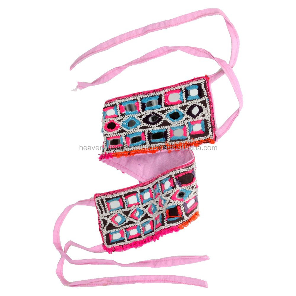 Colorful Vintage Banjara Belt Indian Tribal Gypsy Boho Mirror Work Belt