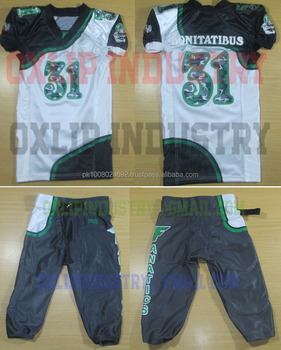 Sublimated Cutstom Camo American Football Uniforms