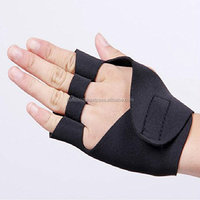 Cycling Neoprene Padded Gloves Weight Lifting Wheel chair Finge rless