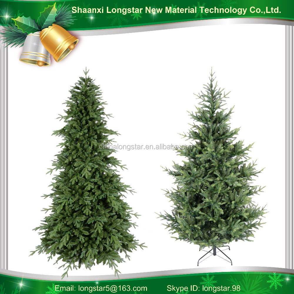 Hinged Automatic artificial PE Christmas trees with LED