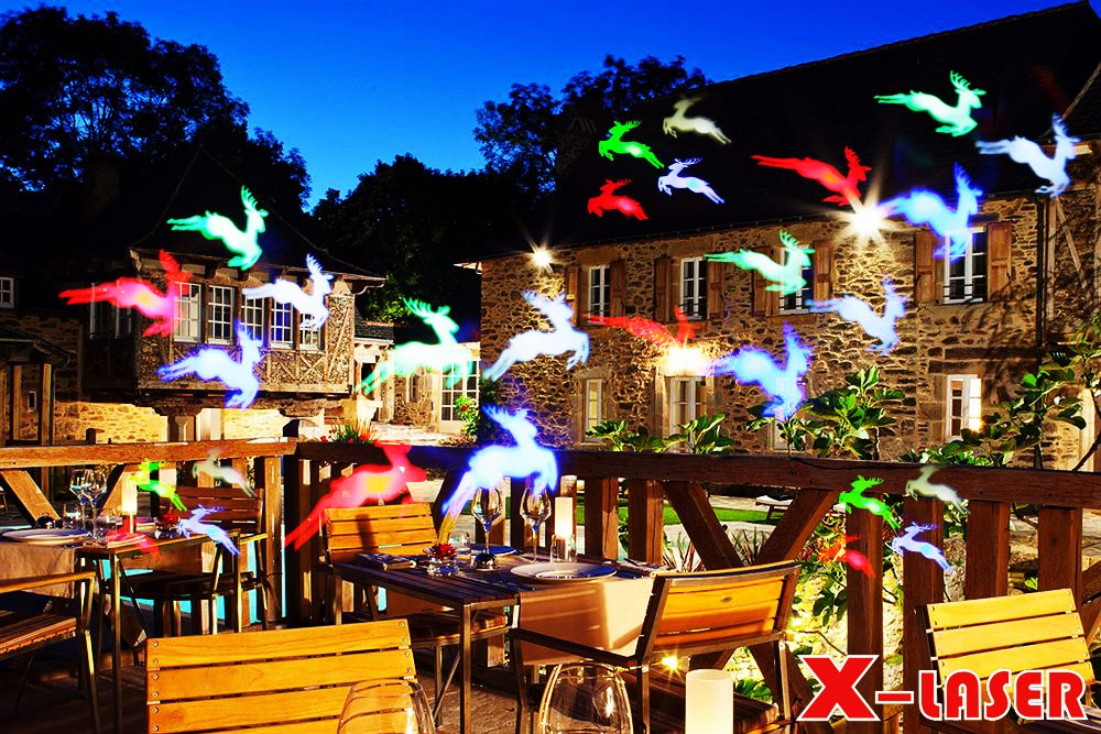 outdoor sparkle led light holiday landscape Projector Light 12 units slides film light