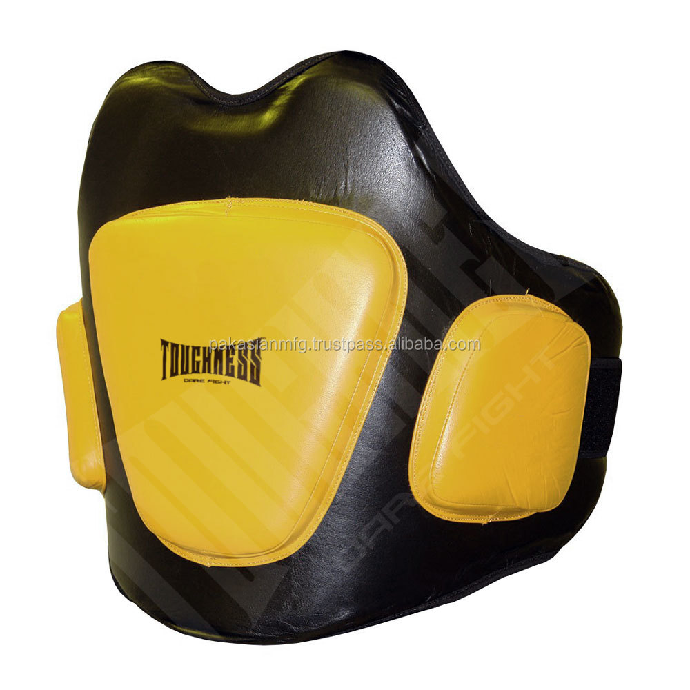 Muay Thai Belly Pads - Genuine Leather - Martial Arts MMA Boxing Training