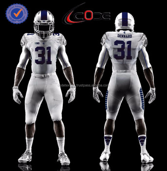 2017 NEW custom sublimated american football jerseys, custom sublimated american football pants