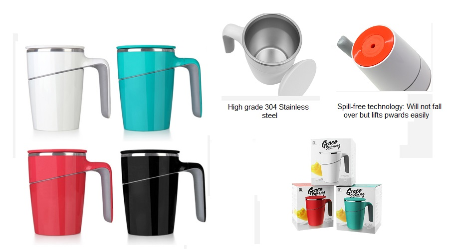45102 Suction Thermal Mug ( 470ml) with personalised logo printing