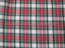 cotton flannel plain checked fabric for school uniform