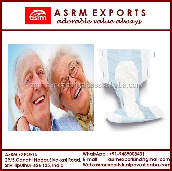 Wanted Sales Agent Worldwide for Super Absorbent Disposable Adult Diapers Made in India