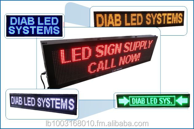 LED P10 single color sign