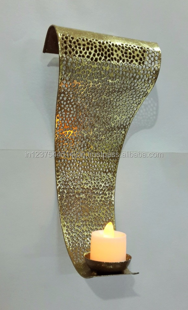 metal etching candle wall art