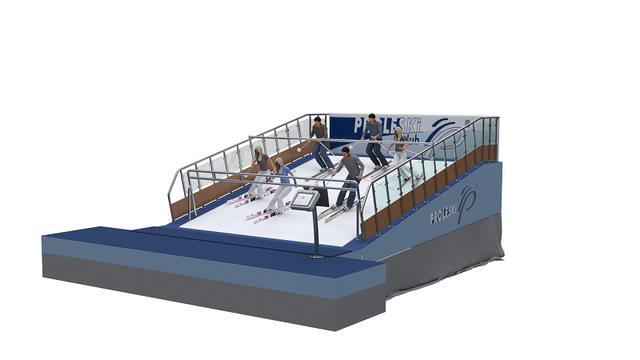 Buy in Korea Proleski Professional training automatic infinite ski slopes Ski simulator Snowboarding machines