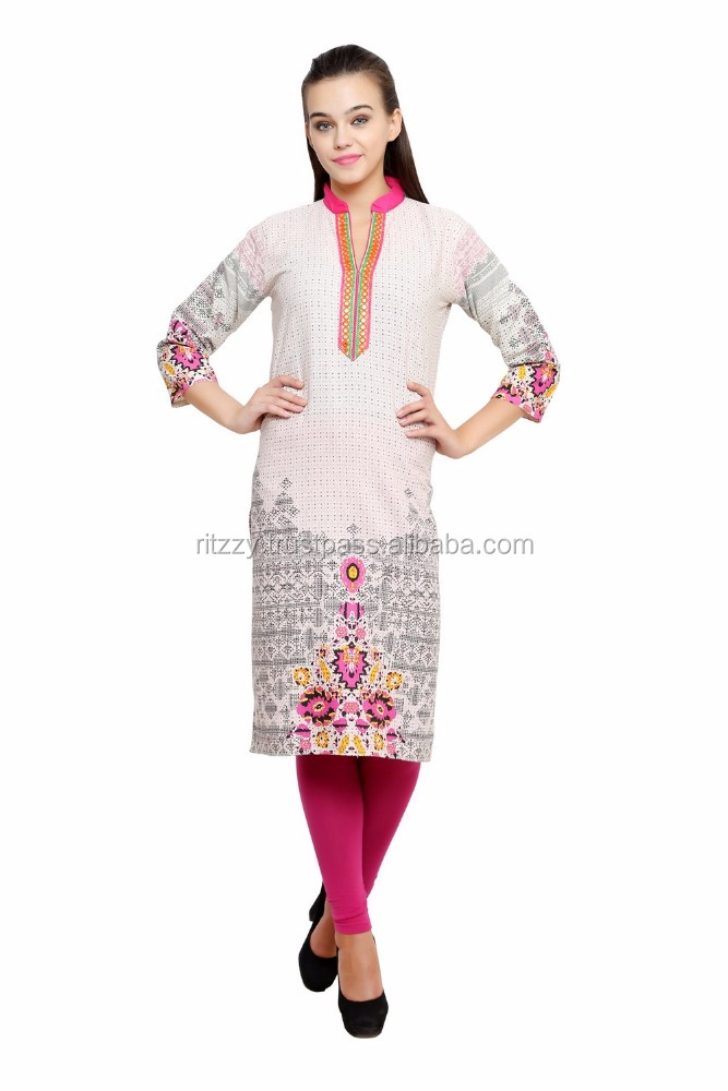 Cotton Trendy 2017 Embroidery Kurta