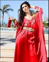 RED EXPORT QUALITY WOMEN PLAIN KAFTAN