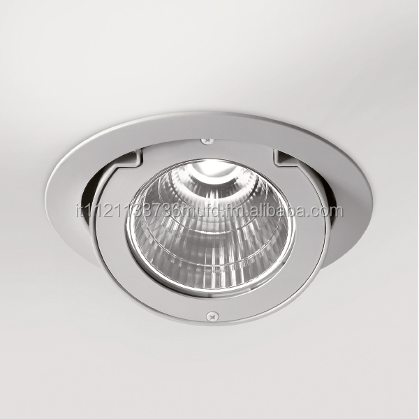 Spinner Recessed luminaire with LED lighting system.