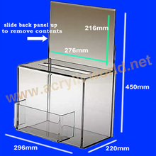 Suggestion Boxes With Lock/ Clear Plastic Money Box With Lock