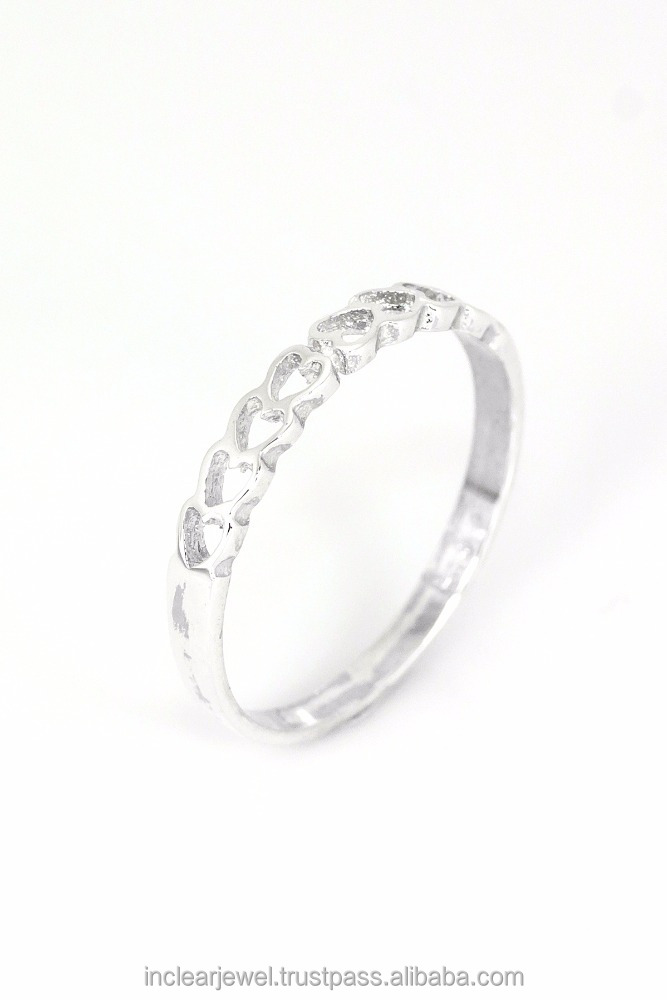 925 sterling silver jewelry All About Heart Band Ring