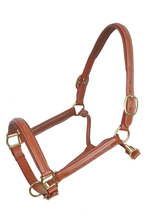 Qty. 12 Leather Fancy Stitch Horse Padded Adjustable Halters
