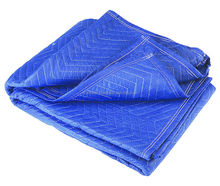 Comfortable and Royal large size Blue 80-in L x 72-in W Cotton Moving Blanket for sale in very very cheap rate.