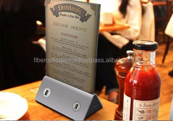 Menu Holder Coffee Shop Power Bank Restaurant Power Pack Advertisement Battry Pack Charger Mobile Standle Holder Pack