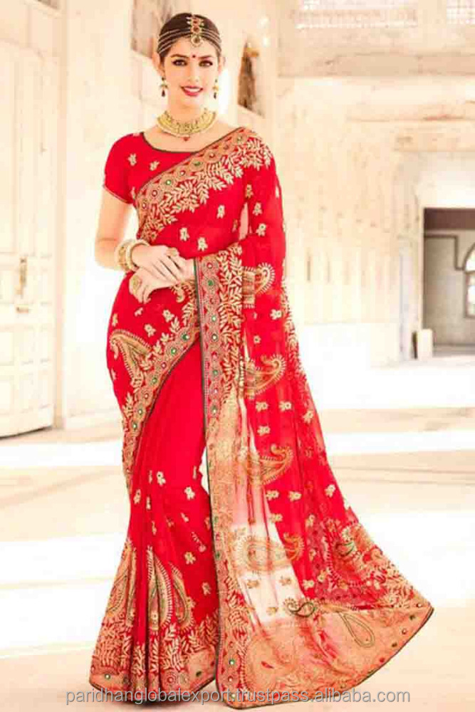 Heavy Embroidered Saris Net Fabric Wholesale Saree Traditional, Bridal Wear Sarees Best Price Catalog