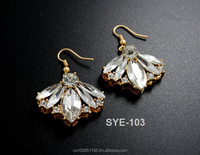 Fine Jewelry 2016 Hanging Earrings Stud Design Shining Crystal Earrings