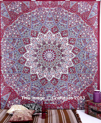 Psychedelic Star Mandala Tapestry Hippie Tapestries Wall Hanging Cotton Bedspread Bohemian Throw Blanket Indian Wholesale Ethnic