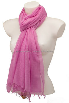 gauze cotton scarf solid cotton scarf