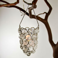 Crystal Hanging Candle Holder, Christmas Hanging Tea Light Holder, Crystal Candle Holder