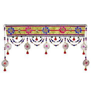Embroidered Beaded Door Valances Window Topper Curtian Toran Door Hanging DV377A