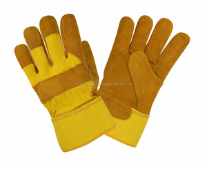 Yellow Cow Split Leather Work Working Safety Gloves