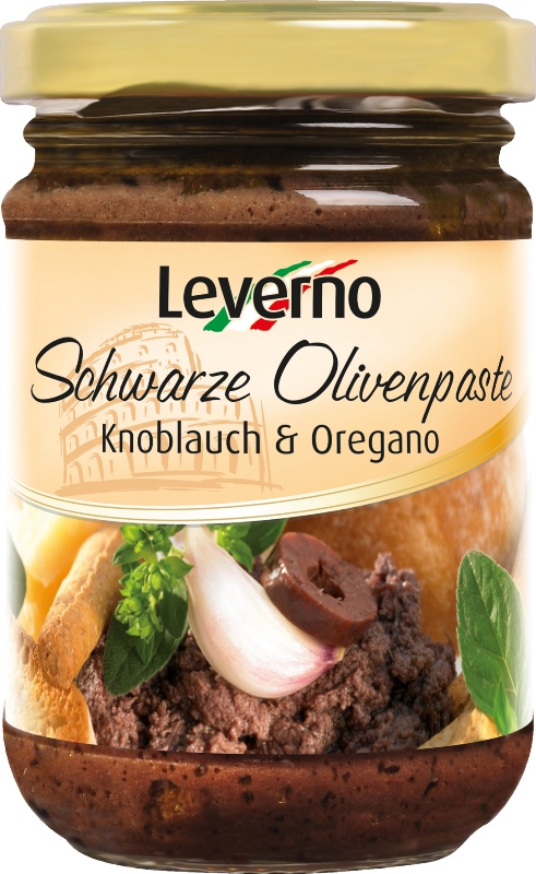 Schwarze Olivenpaste Knoblauch & Oregano (Black Olive Paste with Garlic and Oregano)
