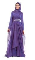 PURPLE WEDDING KAFTAN WITH WAIST EMBROIDERY