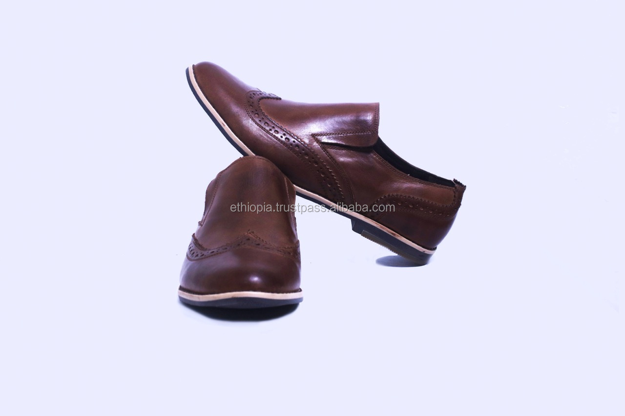 Fashion wholesale price man genuine leather shoe