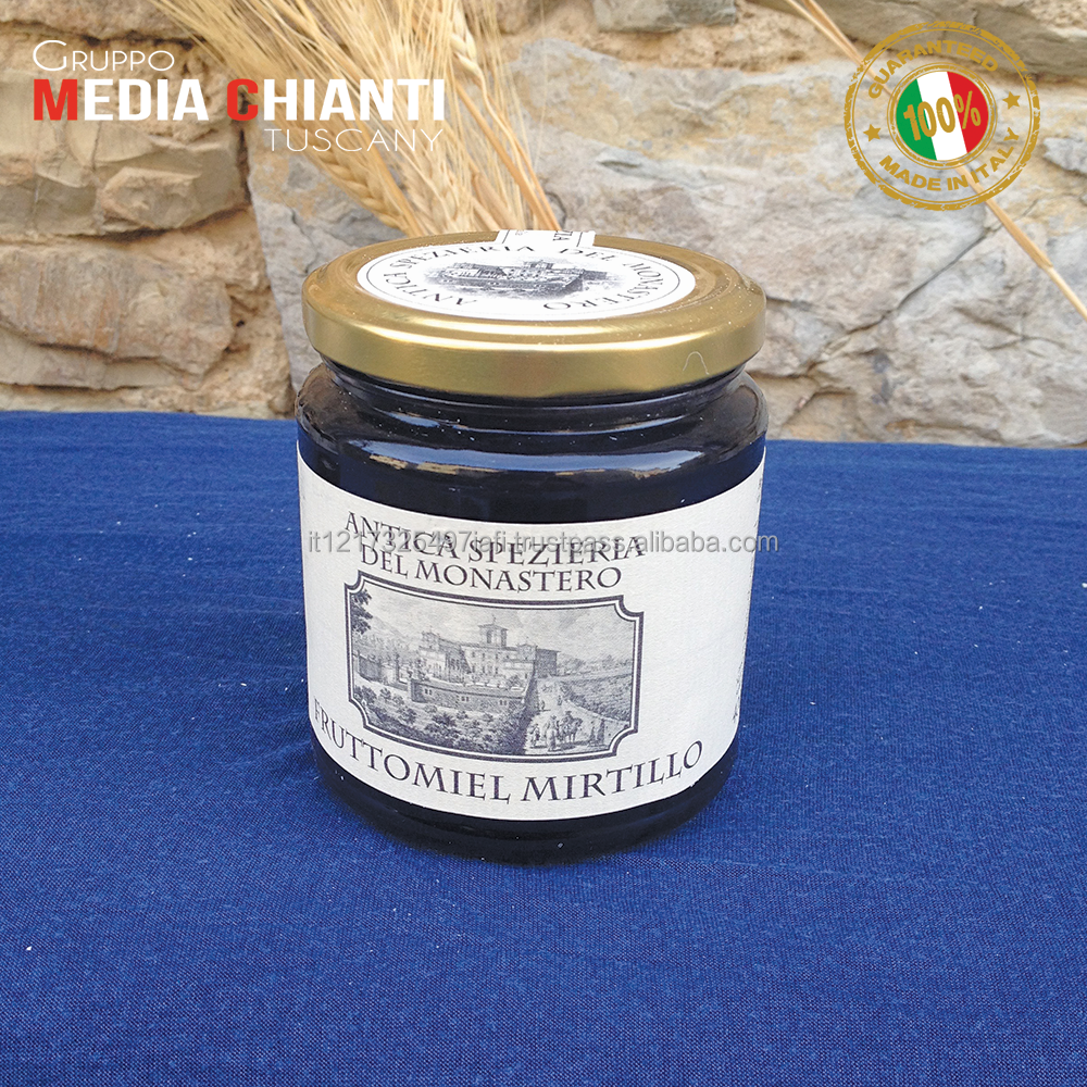 Top Quality Italian BLUEBERRY HONEY 0,400 Kg (liquid) Simple, tasty and natural