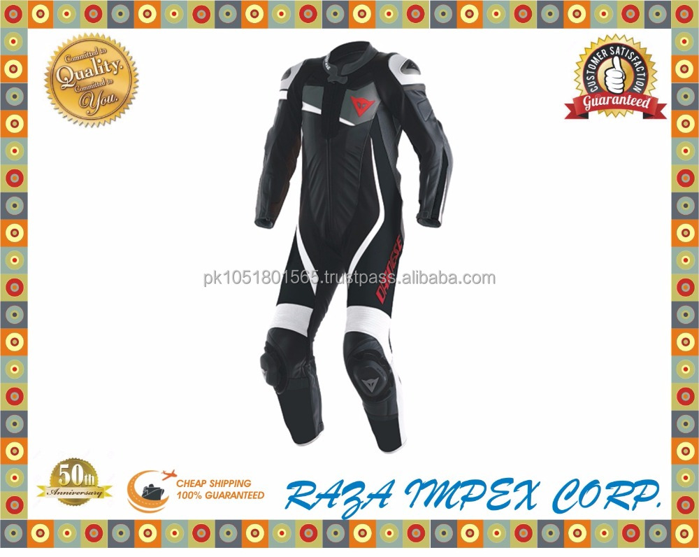 Best Quality Fashion Style Men Leather Motorbike Suit/Motorbike Leather Suit selecting wells