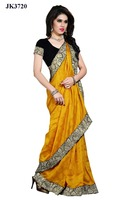 Yellow Color Hypnotizing Zari Resham Work Fancy Saree Blouse