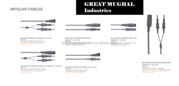 Electrosurgical Cables Silicone Insulated Bipolar Cable Bovie Plug Surgical Tools Bipolar Forceps GM