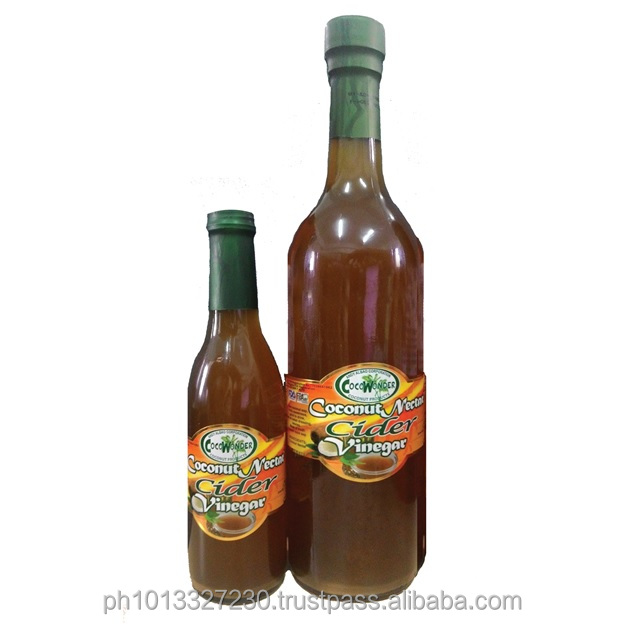 375ml COCONUT CIDER VINEGAR - Certified Organic bu USDA-NOP & EU