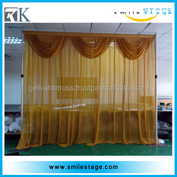 Telescopic aluminum pipe backdrop rental curtains
