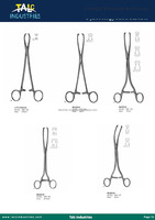 SURGICAL MUSEUX CLAMPS MADE OF STAINLESS STEEL TALC INDUSTRIES