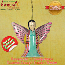 Paper Mache Hand Painted Christmas Angel christmas tree ornament christmas tree decoration