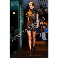 Black High Fashion Women's Short Dress