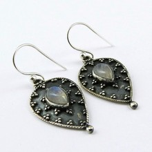 Amazing Rainbow Moonstone 925 Sterling Silver Gemstone Earring, Gemstone Silver Jewelry, Antique Silver Jewelry