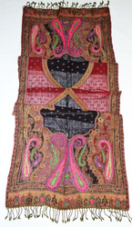 embroidery boiled wool shawl made in India