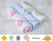 Indian Ecofriendly Muslin Swaddle Blanket Custom Low MOQ 100% Cotton Baby Hooded Fleece Blanket