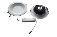 Singapore 12W, 4inch or 5inch cover, 110Lm/W, Emergency LED Downlight Fixture with Samsung LEDs, Dimming detachable