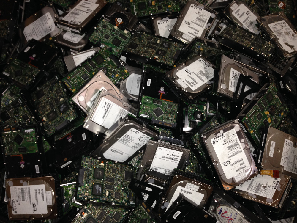 Shreeded computer scrap, electronic scrap