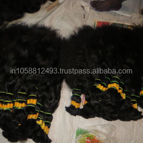 High quality 100% natural indian human hair extension price list wholsale indian hair in india Dev hair exports chennai
